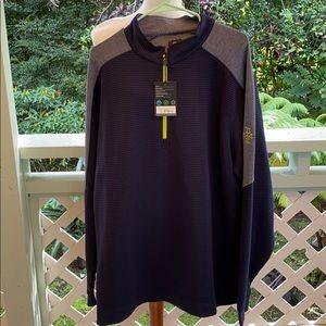 Foot joy FJ shirt pullover gold navy 2XL XXL NWT
